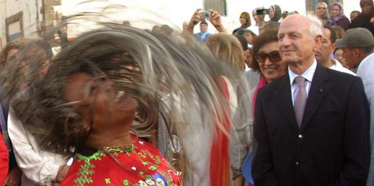 Le conseiller royal André Azoulay au festival Gnaoua et Musiques du monde, à Essaouira, au Maroc, en juin 2008.