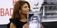 Ensaf Haidar, la femme du militant emprisonné Raif Badawi, à Strasbourg, en décembre 2015.