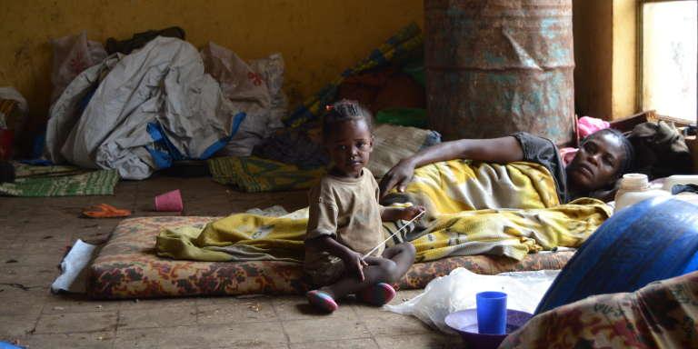 Au camp de déplacés de Chelelektu, dans le sud-ouest de l'Ethiopie, le 25juillet 2018.