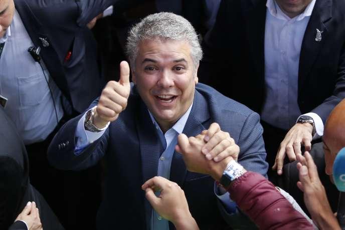 Ivan Duque, le 17 juin, à Bogota.