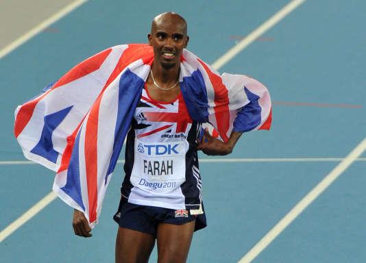 Le Brittanique Mohammed Farah, tenant du record européen du 10 000 m, ici à Daegu en août 2011.