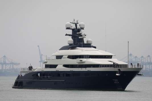 Le yacht« Equanimity»,acquis avec l'argent détourné du fond 1MDB.