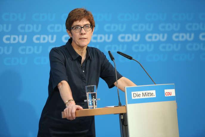 La secrétaire générale de la CDU, Annegret Kramp-Karrenbauer, à Berlin, le 2 juillet.