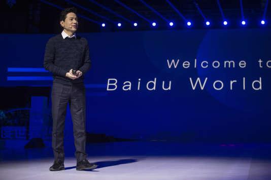 Robin Li, le fondateur du moteur de recherche chinois Baidu, à Pékin, le 16 novembre 2017.