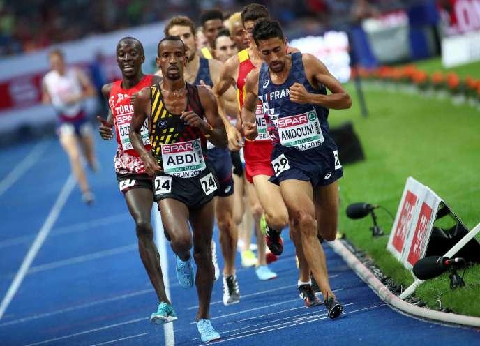 Morhad Amdouni est devenu champion d'Europe du 10 000 mètres, mardi 7 août à Berlin.