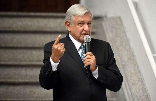 Andres Manuel Lopez Obrador, le 31 juillet à Mexico.