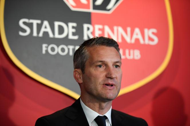 Olivier Létang, le président du Stade rennais, le 9 novembre 2017.