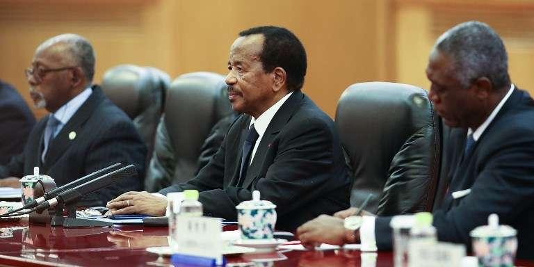Le président du Cameroun, Paul Biya, lors d'une rencontre avec son homologue chinois, Xi Jinping, à Pékin, le 22mars 2018.