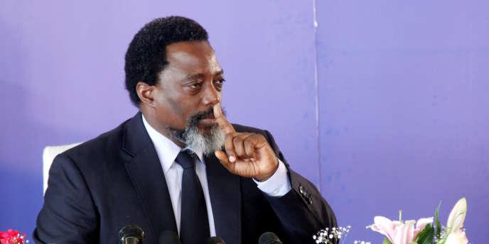 Le président congolais, Joseph Kabila, à Kinshasa, le 26 janvier 2018.