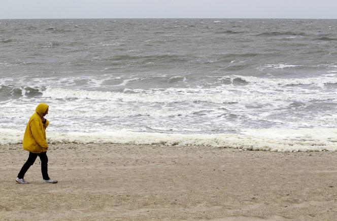 Sur une plage près de Knokke, en Belgique.