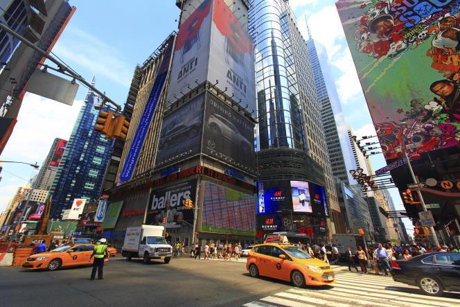 La 7e Avenue à Manhattan (New York).