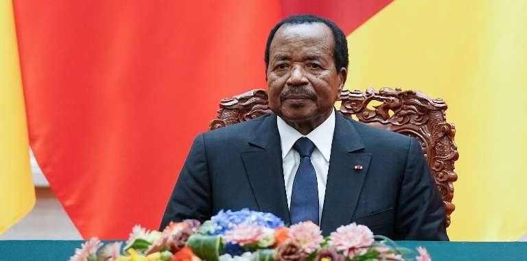 Le président camerounais, Paul Biya, à Pékin, le 22mars 2018.