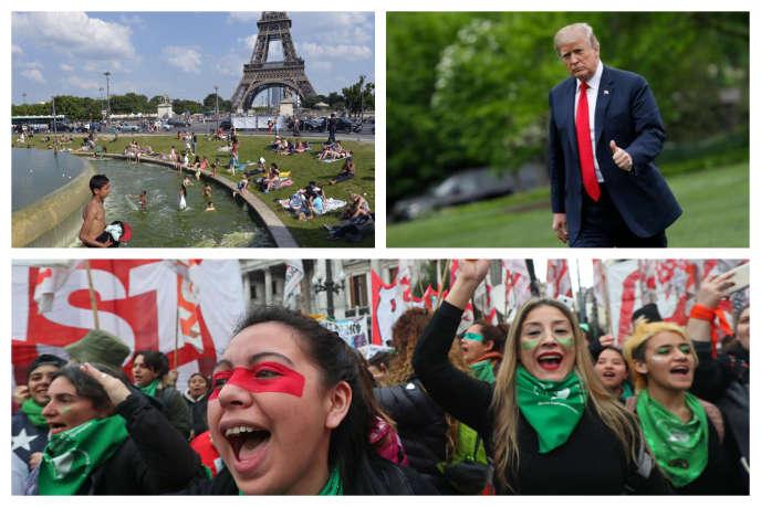 Canicule en France, sanctions des USA à l'endroit de l'Iran et légalisation manquée de l'avortement en Argentine.