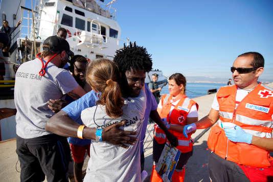 Originaires en grande majorité du Soudan et du Soudan du Sud, 87 migrants sont arrivés le 9 août dans le port espagnol d'Algésiras.
