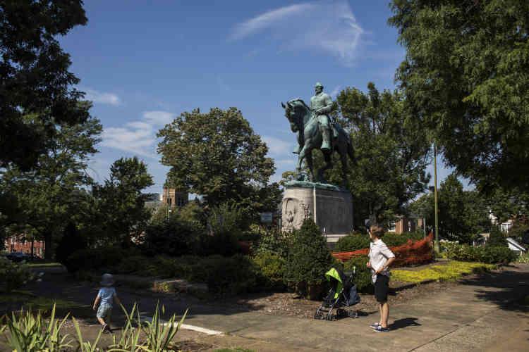 «Jusqu'à 2017, je n'avais jamais été dans les parcs où sont ces statues», expliquela pasteure Brenda Brown-Grooms. Un lieu pour Blancs, gagné sur les Noirs, qui en furent expulsés dans les années 1920.