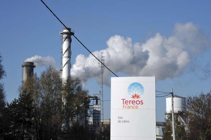 La raffinerie de sucre Tereos, à Lillers (Pas-de-Calais), en novembre 2011.