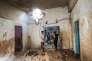 La maison où une jeune femme a été tuée avec son bébé par une frappe israélienne, dans la bande de Gaza, le 9 août. said Khatib/AFP