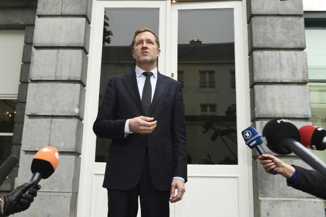 Paul Magnette, alors ministre-président de Wallonie, donne une conférence de presse à Bruxelles, le 27 octobre 2016.