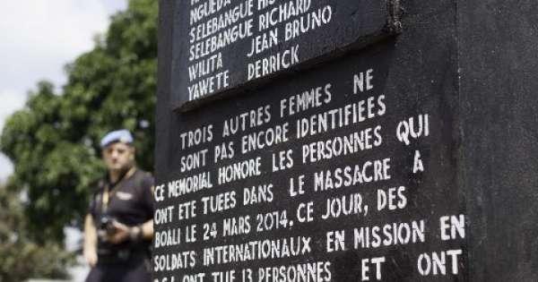 En Centrafrique les soldats de la paix de l Union