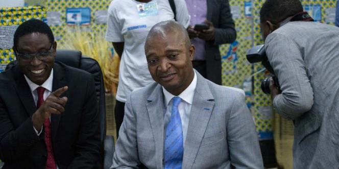 Le candidat du pouvoir à l'élection présidentielle,Emmanuel Ramazani Shadary, à Kinshasa, le 8août 2018.