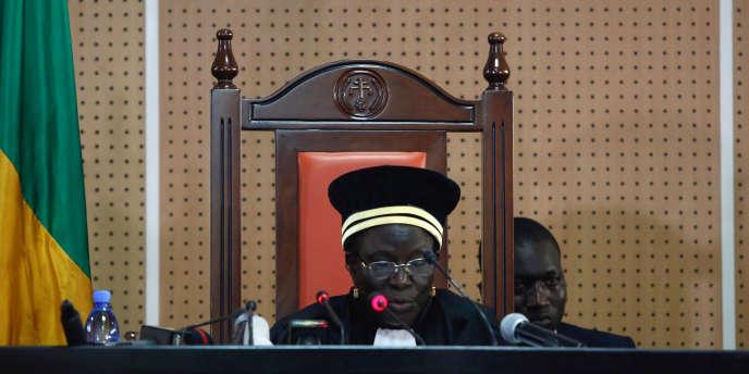 Manassa Danioko, la présidente de la Cour constitutionnelle du Mali, à Bamako, le 8août 2018.