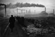 Première équipe de jour, à l'aciérie d'Hartlepool, en Grande-Bretagne, en 1963.