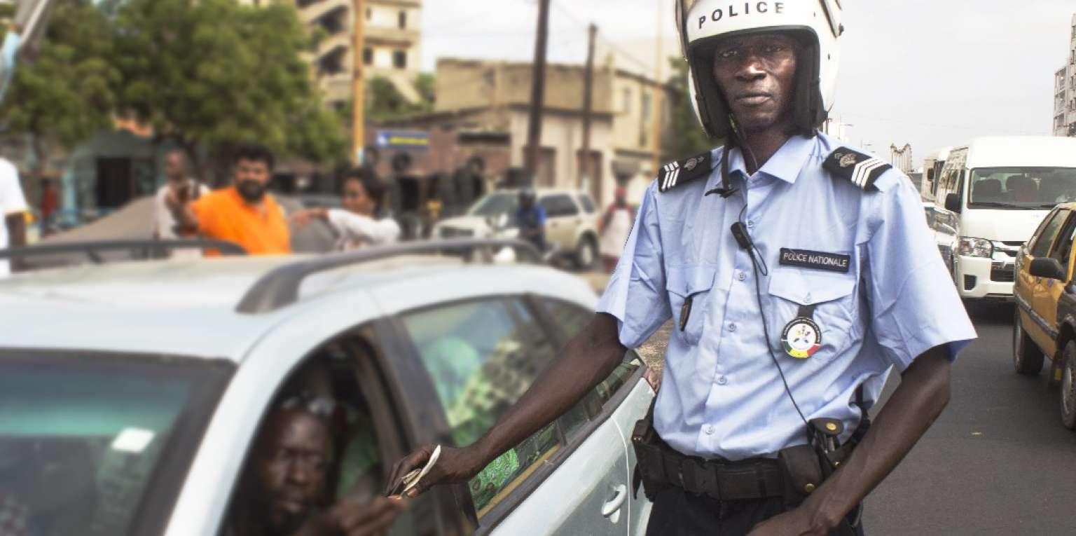 Mouhamadou Diouf dans l'exercice de ses fonctions à Dakar, le 9août 2018.