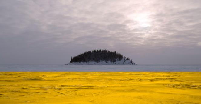La rivière Athabasca (Canada), d'après une photographie de Samuel Bollendorff.