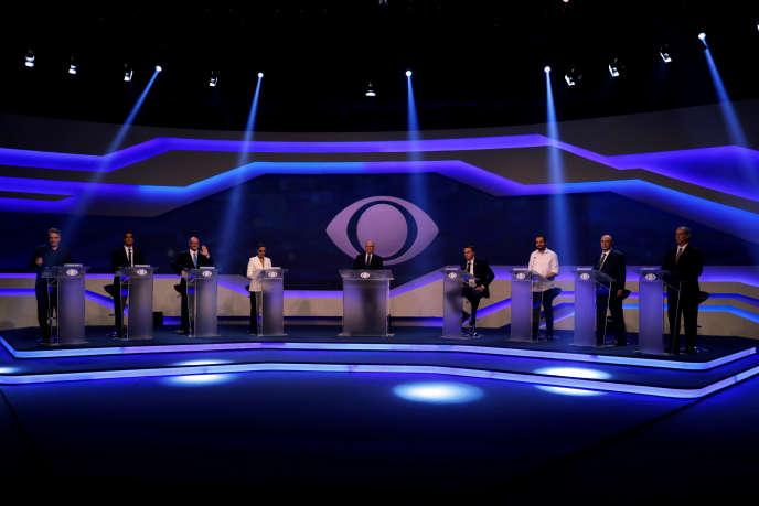 Débat des candidats à la présidentielle brésilienne, à Sao Paulo, le 9 août.