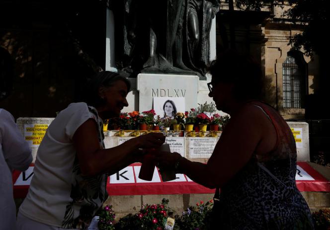 Le 16 juillet, à La Valette, un hommage est rendu à la journaliste Daphne Caruana Galizia, neuf mois après son assassinat.