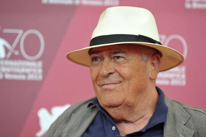 Bernardo Bertolucci lors de la 70e édition de la Mostra de Venise, en 2013, dont il a été président du jury.