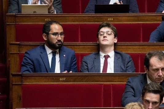 Guillaume Chiche et Sacha Houlié, à l'Assemblée, en novembre 2017.