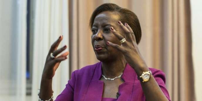 La ministre rwandaise des affaires étrangères, Louise Mushikiwabo, le 2août 2018, à Kigali.