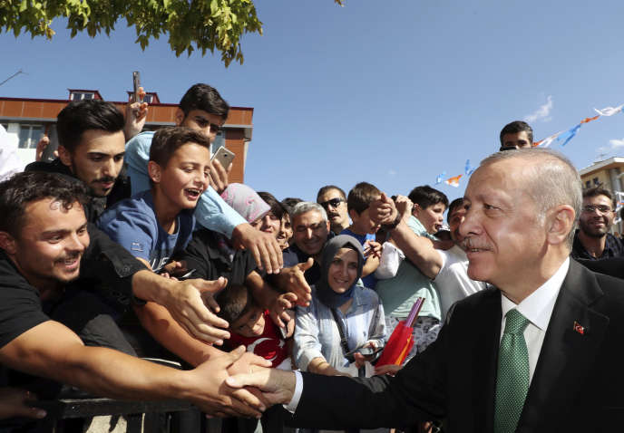 Recep Tayyip Erdogan, le président turc,à Bayburt,en Turquie, le 10 août.