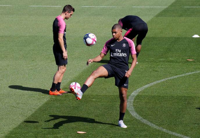 Kylian Mbappé et le PSG, ici en août 2018, vont retrouver l'entraînement.