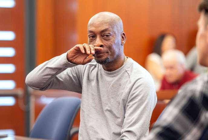 Dewayne Johnson après l'annonce de la condamnation de Monsanto par le tribunal de San Francisco, le 10 août.