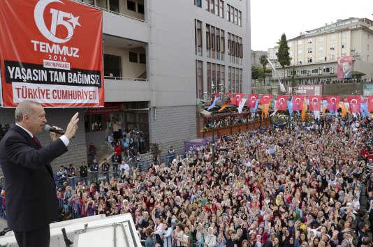 Recep Tayyip Erdogan, le 11 aôut à Rize.