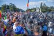 Affrontement avec la police, le 10 août, à Bucarest.