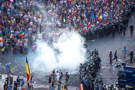 A Bucarest, le 10 août.