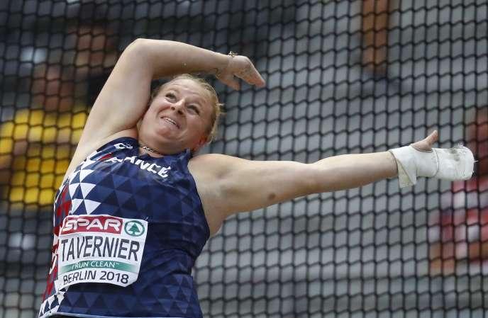 Alexandra Tavernier est vice-championne d'Europe du lancer du marteau.