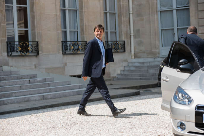 Nicolas Hulot, le 25 juillet, à la sortie du conseil des ministres, au Palais de l'Elysée, à Paris.