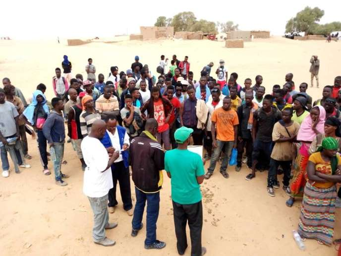 Les migrants secourus aucentre de transit de l'OIM, à Arlit (Niger), le 11 août.