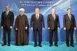 Lors de la réunions des cinq présidents des Etats riverains de la Caspienne. De gauche à droite : Gurbanguly Berdimuhamedow (Turkménistan), Hassan Rohani (Iran), Nursultan Nazarbayev (Kazakhstan), Vladimir Poutine (Russie) etIlham Aliyev (Azerbaïdjan), à Aktaou(Kazakhstan), le 12 août.