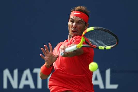 Rafael Nadal durant la finale du tournois de Toronto, le 12 août.