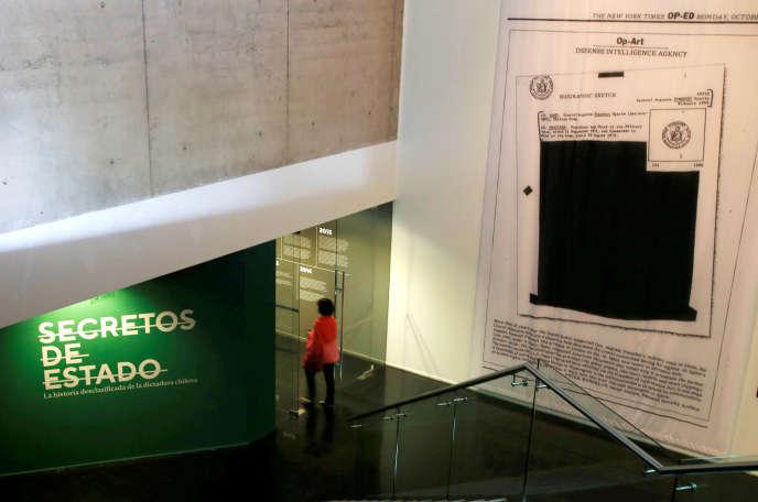 Entrée du Musée de la mémoire et des droits de l'homme chilien, en octobre2017.