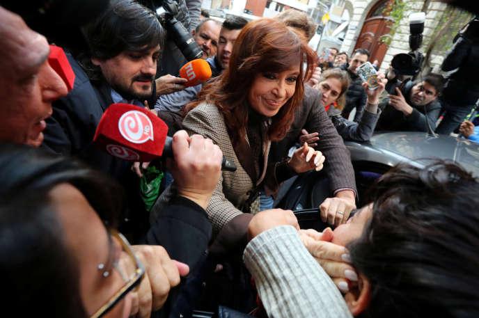 L'ancienne présidente argentine, Cristina Kirchner, à Buenos Aires, le 13 août.