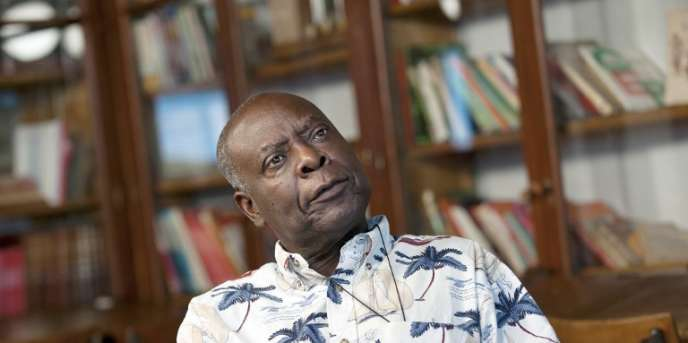 L'écrivain congolais Emmanuel Dongala, à Lyon, en 2012.