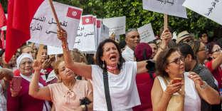 Manifestation pour l'égalité des droits àTunis, le 13 août.