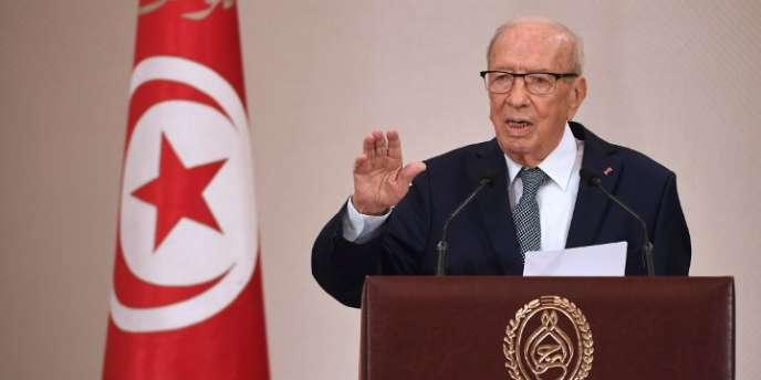 Le président tunisien, Béji Caïd Essebsi, à Tunis, le 20mars.