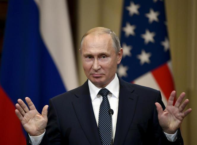 Vladimir Poutine, à Helsinki, le 14 août.